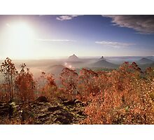 Glasshouse Mountains Lookout Photographic Print