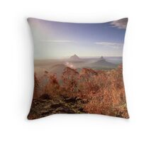 Glasshouse Mountains Lookout Throw Pillow