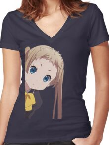 Sanae Dekomori Anime Women's Fitted V-Neck T-Shirt