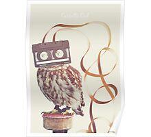 Cassette Owl Poster