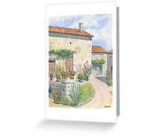 Village Scene, France Greeting Card