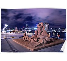 SAND SCULPTURES AT THE DOCKLANDS Poster
