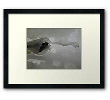 The Demon Chasing You Framed Print