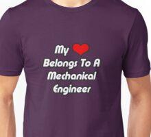 My Heart Belongs To A Mechanical Engineer Unisex T-Shirt