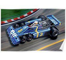 Tyrell 6 Wheel Formula One Poster