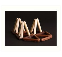 White, Milk, or Plain Chocolate Fingers ? Art Print