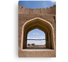 Ancient castle in Rayen, Iran. Canvas Print