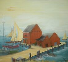 Wharf I by Phyllis Frameli