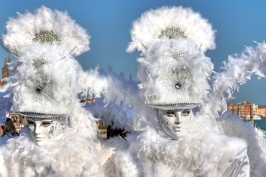 Venice - Carnival Mask 2011....03 - Bright White by paolo1955