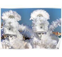 Venice - Carnival Mask 2011....03 - Bright White Poster