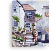 Polperro cottage Canvas Print