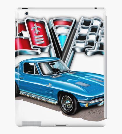 1963 Vette Blue iPad Case/Skin