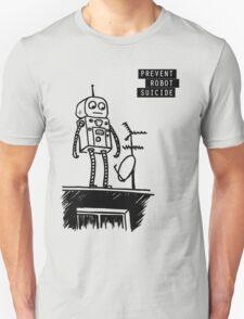 Geeky Robot Suicide T-Shirt