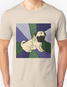Awesome Fawn Pug Puppy Dog Abstract Unisex T-Shirt