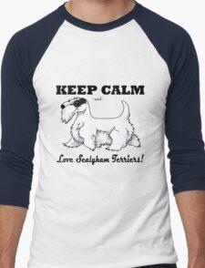 Keep Calm, Love Sealyhams! Men's Baseball ¾ T-Shirt
