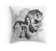 Metal Gear Graffitti Throw Pillow