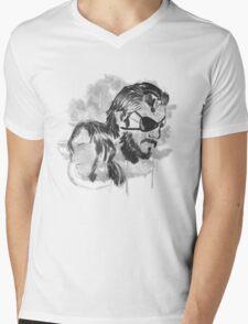 Metal Gear Graffitti Mens V-Neck T-Shirt