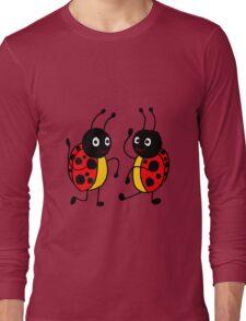 Funky Dancing Ladybugs Long Sleeve T-Shirt