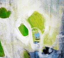 Green abstract painting  by AndradaArt