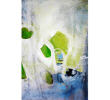 Green abstract painting  Photographic Print