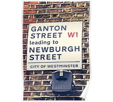 London street sign in Soho Poster
