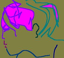 female head -(200711b)- digital artwork/ms paint by paulramnora