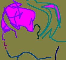 female head -(200711b)- digital artwork/ms paint by paulramnora