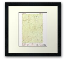 USGS Topo Map Oregon Pinhead Buttes 281101 1986 24000 Framed Print
