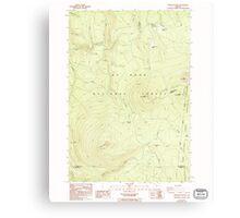 USGS Topo Map Oregon Pinhead Buttes 281101 1986 24000 Canvas Print