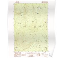 USGS Topo Map Oregon Pinhead Buttes 281101 1986 24000 Poster
