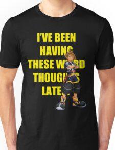 "Sora ""I've Been Having These Wierd Thoughts Latley"" Unisex T-Shirt"
