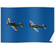 Mustang and Sea Fury Poster