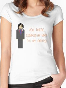 The IT Crowd – Fix My Pants! Women's Fitted Scoop T-Shirt