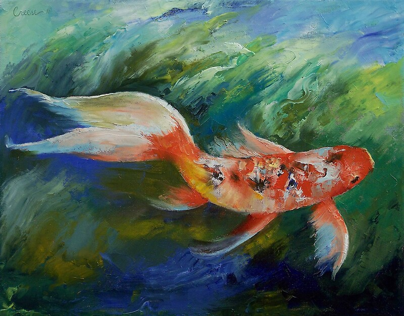 Ruby and sapphire photographic prints by michael creese for Michael koi pond