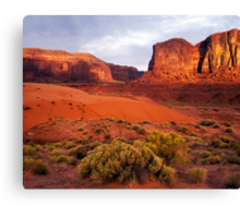 Sunset, Monument valley Canvas Print
