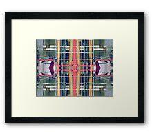 wire matrix collage II Framed Print