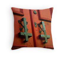 no key needed to enter Throw Pillow