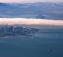 San Francisco from Above by illufox