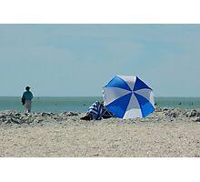 Beach Umbrella Photographic Print