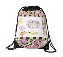 I Love You  Doodle Drawstring Bag
