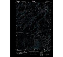 USGS Topo Map Oregon Cline Falls 20110826 TM Inverted Photographic Print