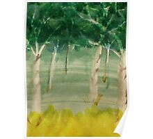Among the trees, watercolor Poster
