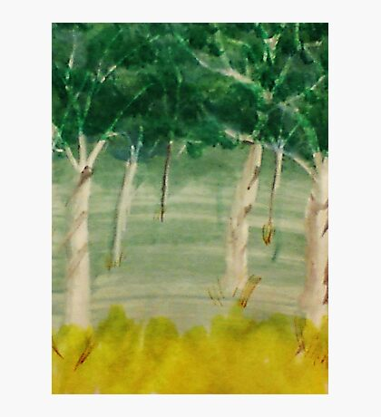 Among the trees, watercolor Photographic Print