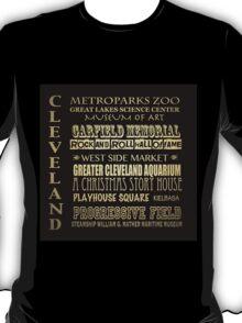 Cleveland Ohio Famous Landmarks T-Shirt