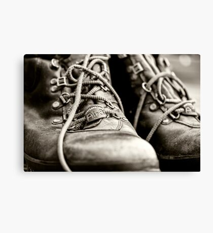 Tough Old Boots Canvas Print