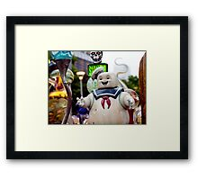 Stay Puft Marshmallow Man in Slime Framed Print