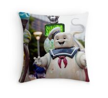 Stay Puft Marshmallow Man in Slime Throw Pillow