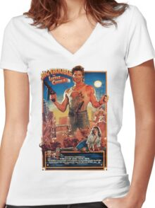 Big trouble in Little China Women's Fitted V-Neck T-Shirt