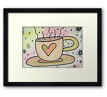 More Coffee Please Framed Print