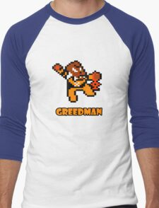 Greedman Men's Baseball ¾ T-Shirt